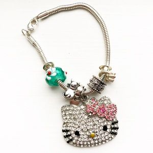 Vintage silver Hello Kitty charm bracelet